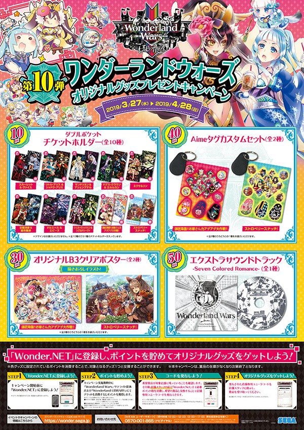「Wonderland Wars」オリジナルグッズプレゼントキャンペーン第10弾