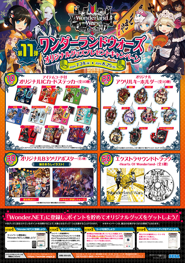 「Wonderland Wars」オリジナルグッズプレゼントキャンペーン第11弾